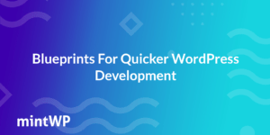 How to use Blueprints for Quicker WordPress Development