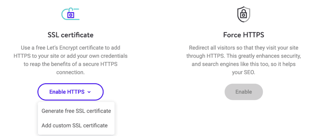 Kinsta: Add a new website Step 5: Add SSL Certificate