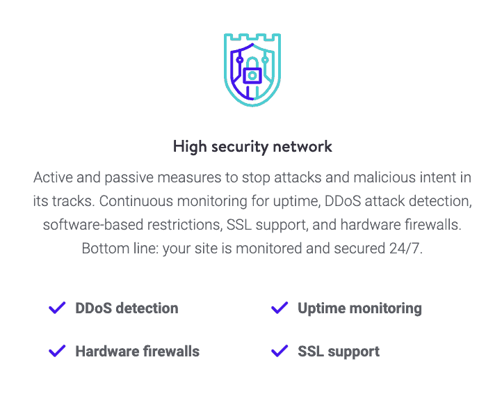 Kinsta: High security network