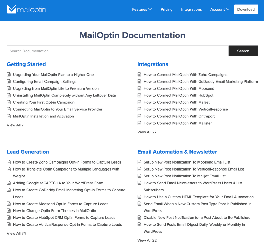 MailOptin Documentation