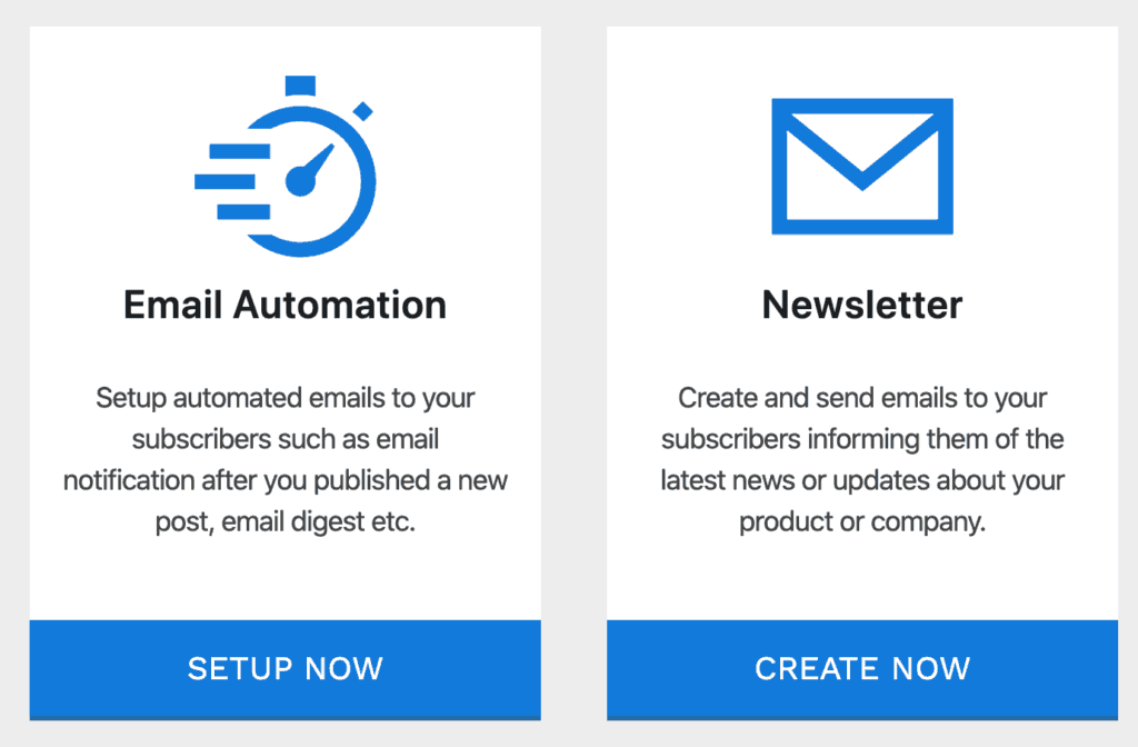 MailOptin Email types