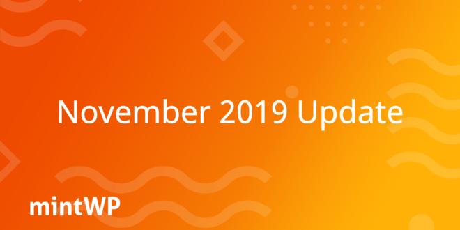 mintWP November 2019 update