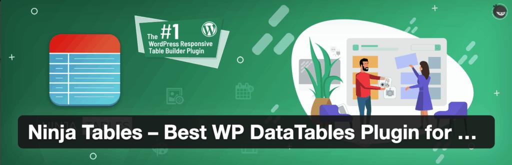 Ninja Tables - Table plugin for WordPress