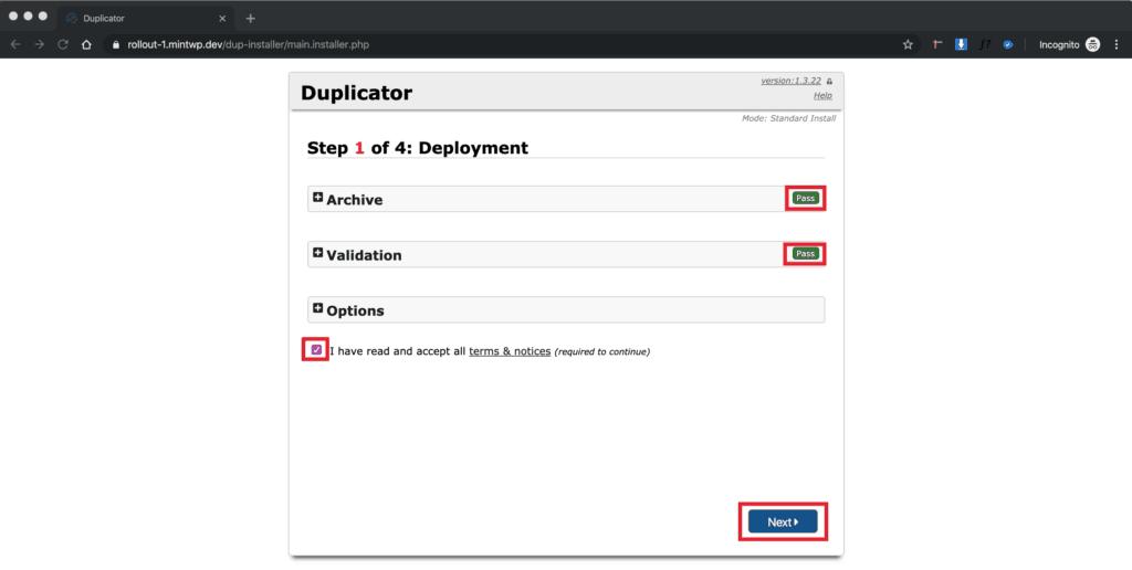 WordPress Blueprint Deploy - Step 4