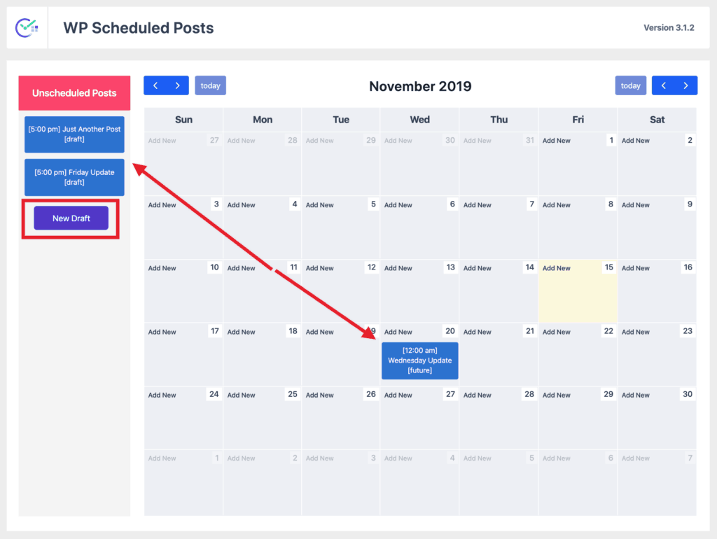 WP Scheduled Posts Calendar