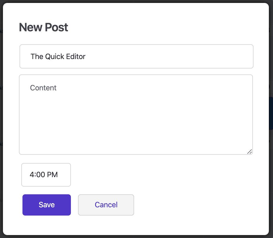 WP Scheduled Post Quick Edit