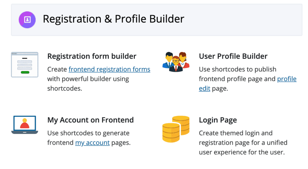 WP User Frontend Pro: Registration & Profile Builder