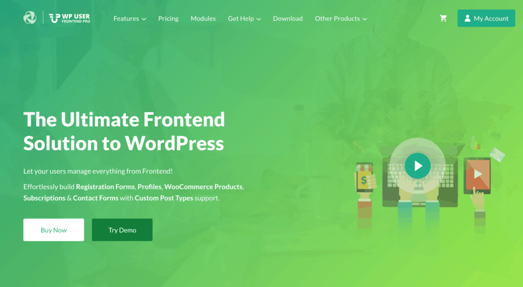 WP User Frontend Pro website